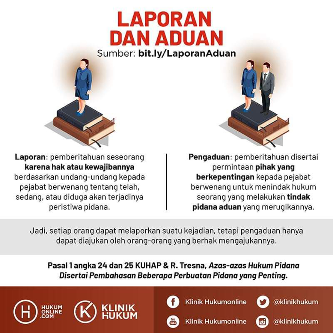 Perbedaan Pengaduan Dengan Pelaporan Kartika Law Firm
